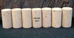 Bouchons de liège Cylindriques 45×24 mm Naturels FS (9-11 ans)