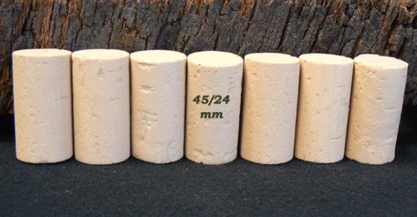 Bouchons de liège Cylindriques 45×24 mm Sanpor M (4-6 ans)