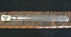 Tube verre 200mm et bouchon conique Brocquillon naturel 27x27/16 mm