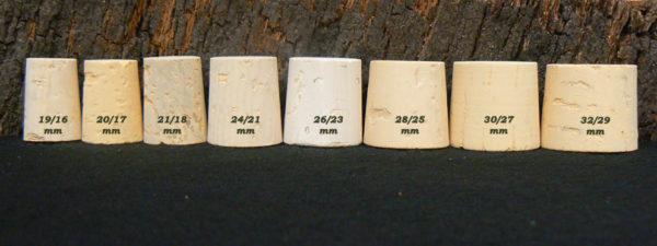 Bouchons liege brocquillons 27mm haut