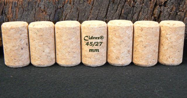 Bouchons liège Cidrex chanfreinés 45x27 mm pour cidre et bière.
