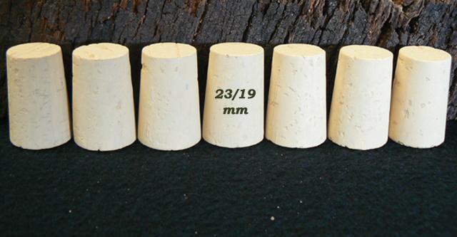 Bouchons de liège coniques Liège Sanpor hauteur 33x23/19 mm.