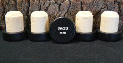 Bouchon tete bois noir 34/30/23mm en vente sur alienatur