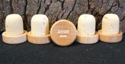 Bouchons liège à Tête bois verni liège naturel 28,8x29/27 mm