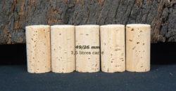 Boucon liège naturel 49x26 pour bouteilles 1,5 litres carée