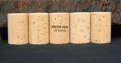 Bouchon liège naturel 54x38mm pour bouteilles 18 litres