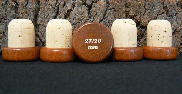 Achat de bouchon tete bois marron 29:27x20mm sur Alienatur