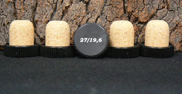 Achat de bouchons tete plastique 29 mm liège micro 27mmx19.6mm