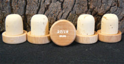 Achat de bouchons tete bois verni 29 27/19mm sur alienatur