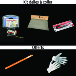 kit pose dalles a coller sol/mur liege vente sur alienatur