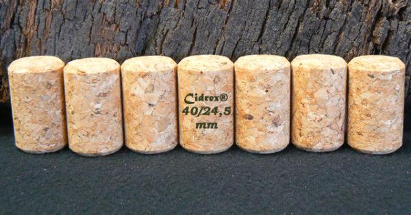 Bouchons liège Cidrex chanfreinés 40x24,5 mm pour cidre et bière