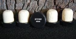 Bouchons liège à Tête plastique noire liège sanpor 29x27/20 mm