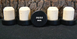 Bouchon tete bois noir 34/30/23mm en vente sur Âme du liège