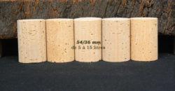 Bouhon liège naturel 54x36mm pour bouteilles 5 à 15 litres