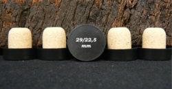 Bouchon liege tete plastique noire 34x29/22.5mm sur ame du liège