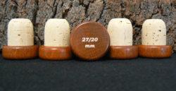 Achat de bouchon tete bois marron 29:27x20mm sur Âme du liège