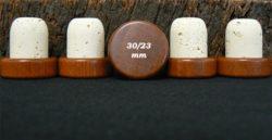 Achat de bouchon tete bois marron 34/30x23mm sur Âme du liège