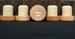 bouchon liege tete bois verni 34/30x23mm en vente sur Âme du liège