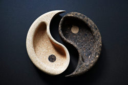 Coupe vide poche 2 parties yin yang