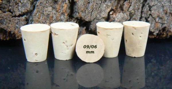Achat bouchons coniques 11x09/06mm sur Âme du liège