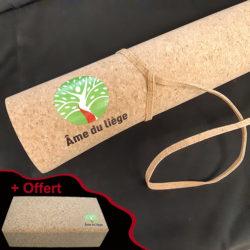1 Brique offerte pour 1 tapis yoga Ame du liège acheté