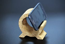 Support en liège pour téléphone portable