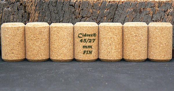 Bouchons Cidrex 45x27mm FIN chanfreines pour cidre et bière sur Ame du Liège